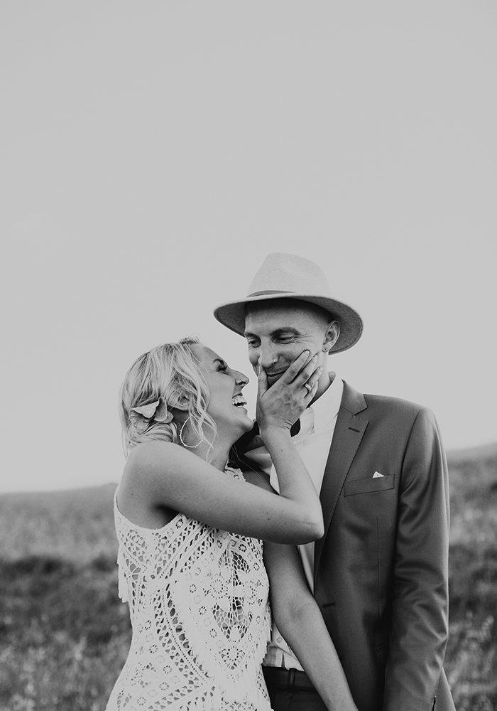 Tilly Clifford Bw Couple Portrait Laughing